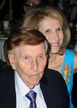 Sumner Redstone, chairman of National Amusements, with his daughter, Shari Redstone